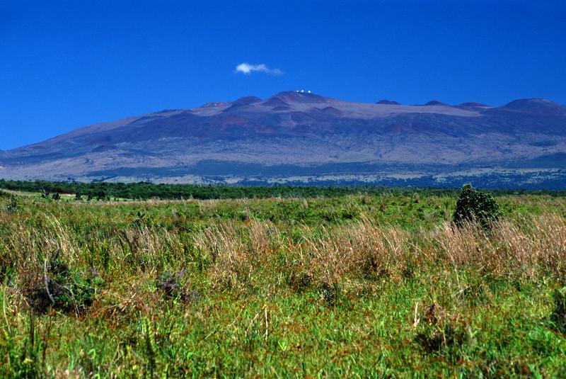 Muana Kea in Morning Light  On the top of the volcano is the Muana Kea Observatory