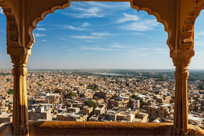 Jaisalmer skyline in India