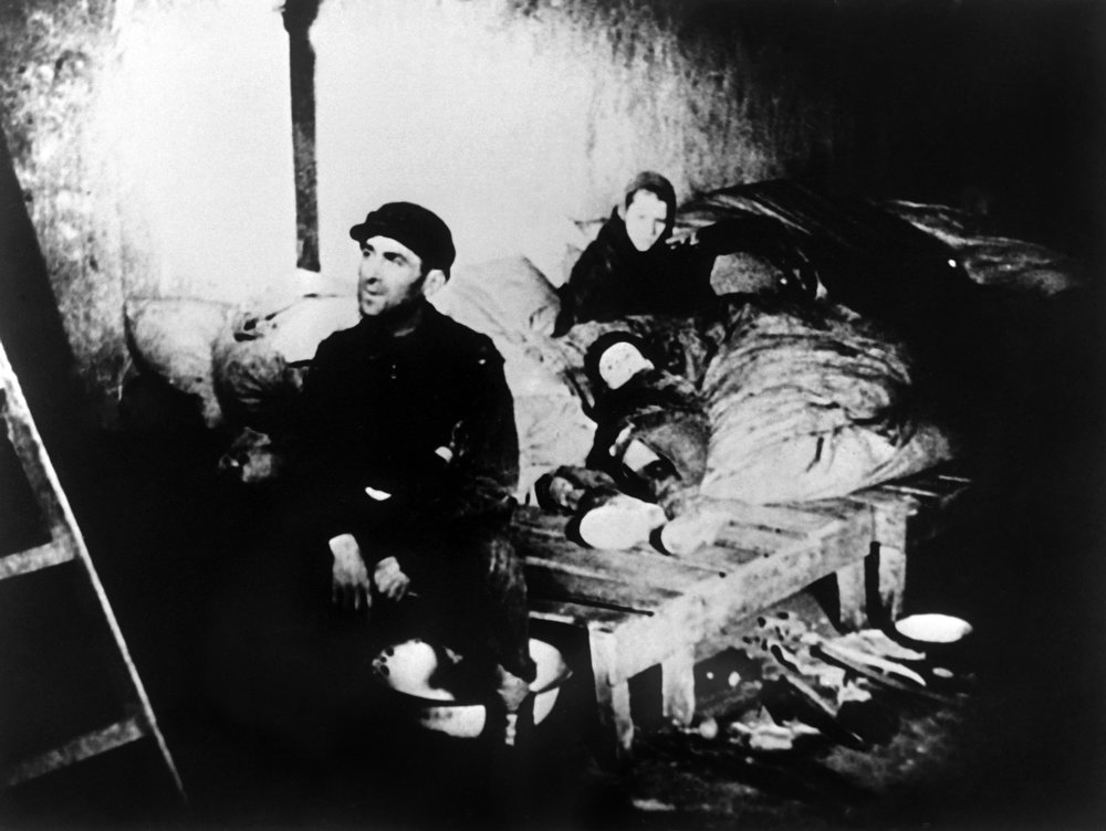 . A family in a house in the Warsaw Jewish ghetto during World War II. AFP/CAF PHOTO