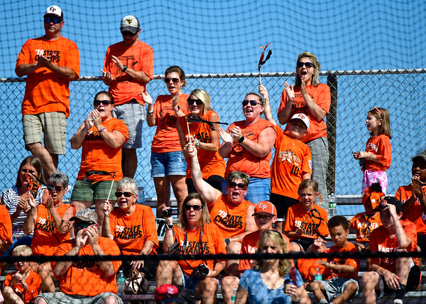 8/4/2019 Mike Orazzi | Staff East Pennsboro Little League fans cheer during their opening round game of the Little League Mid-Atlantic regional