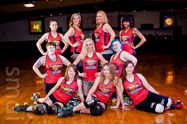2012 Salisbury Roller Girls Group Portraits