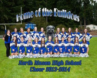 North Mason Football& Cheer Team shots