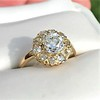 1.97ctw Antique Cluster Ring, GIA G SI2 1