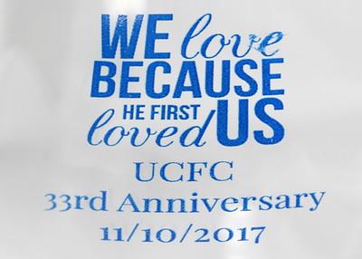NOVEMBER 10TH, 2017: UCFC 33RD CHURCH ANNIVERSARY