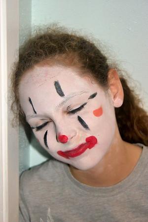 2009-04-18 Erika's Clown makeup