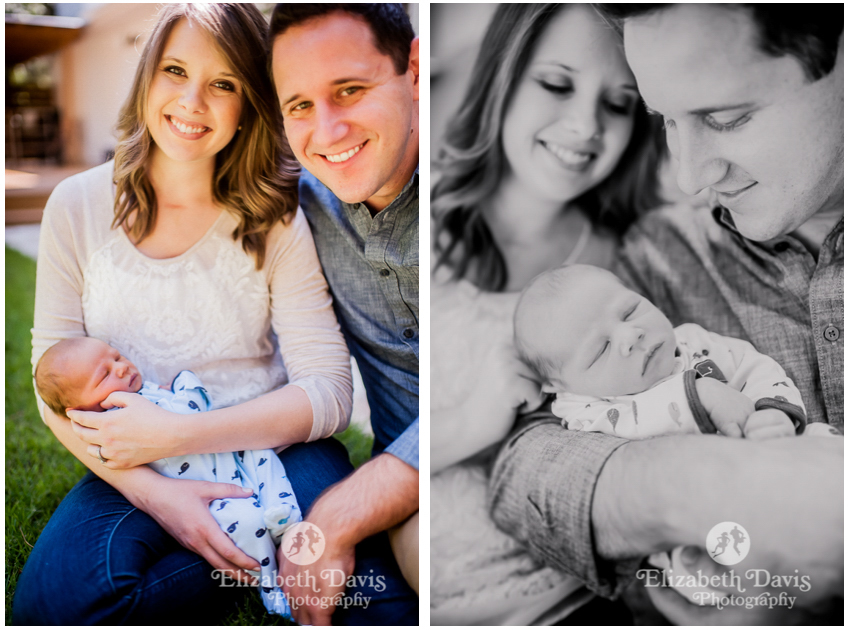 New baby photo session | natural family photos | Tallahassee | Elizabeth Davis Photography