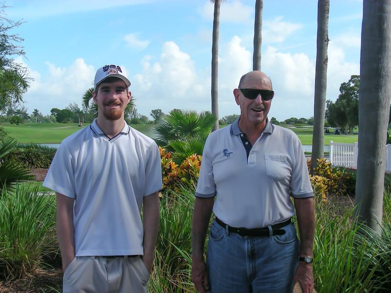 Stephen Golfs with Dan