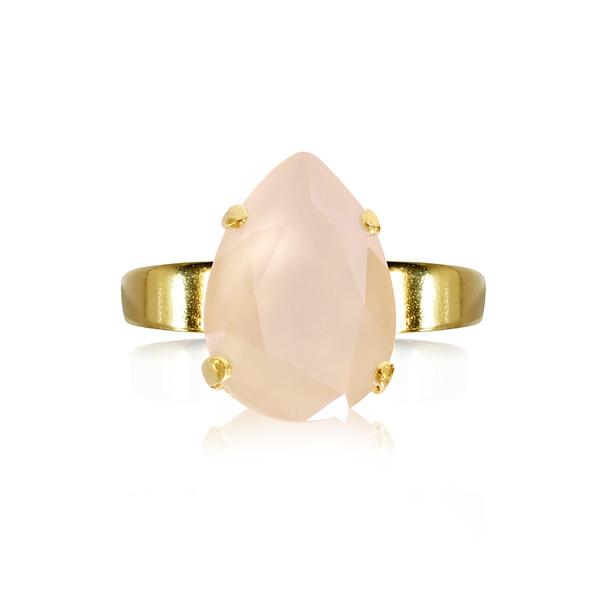 Mini Drop Ring / Ivory Cream Gold