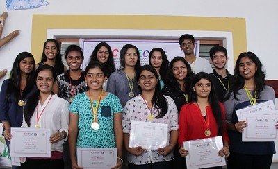 Felicitation of AISSE and AISSCE 2015 toppers