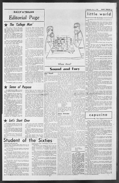 Daily Trojan, Vol. 54, No. 47, December 05, 1962