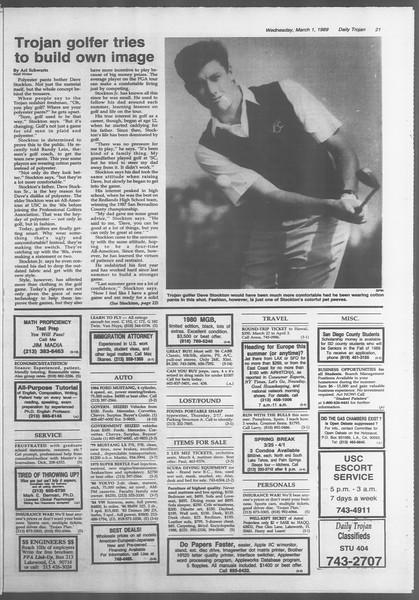 Daily Trojan, Vol. 108, No. 32, March 01, 1989