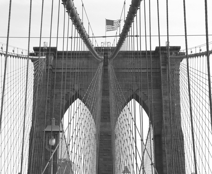 Black and White Images of or about the Brooklyn Bridge