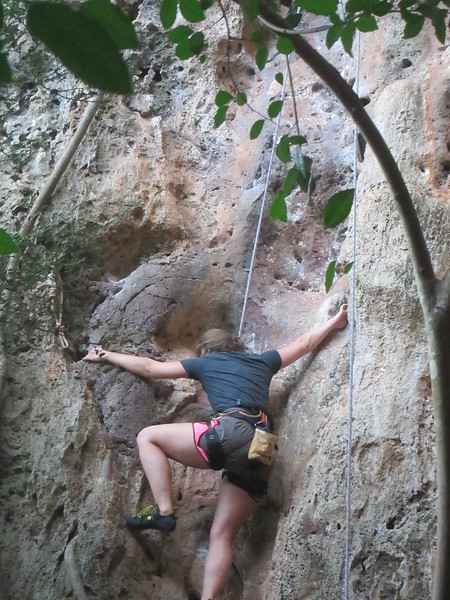 Michelle Climbing up