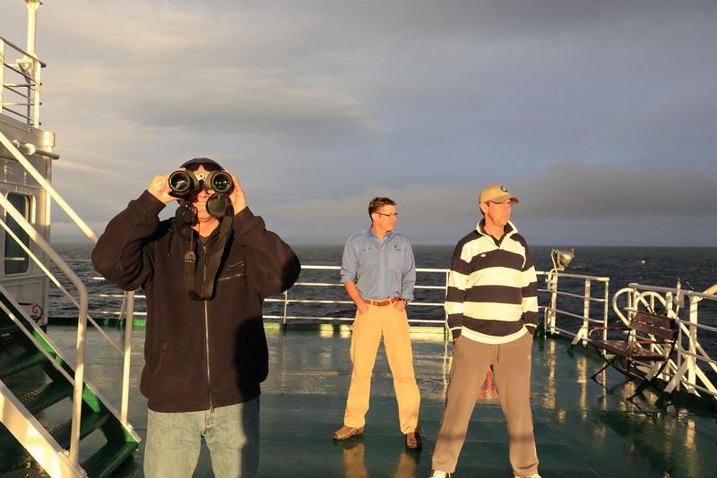 Antarctica - Jan 2013 - Sergey Vavilov Circle Trip, The One Ocean Expedition Team Leader: Graham enjoying the sunset.