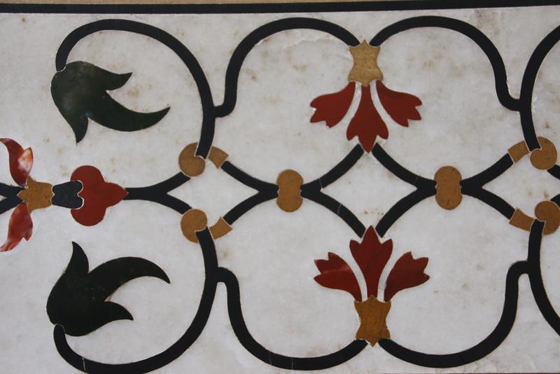 Taj Mahal detail in marble