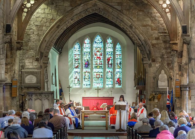 The Palm Sunday morning service at Saint Nicolas' Church, Kings Norton on Sunday 9 April 2017.