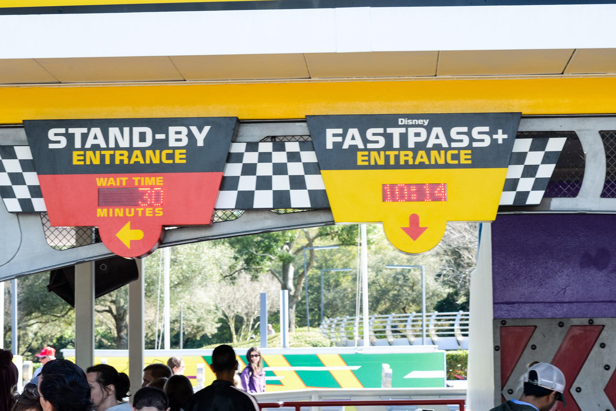 Tomorrowland Speedway Wait Again - Walt Disney World Magic Kingdom