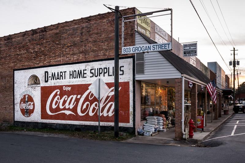 GA, Lavonia - Coca-Cola Wall Sign