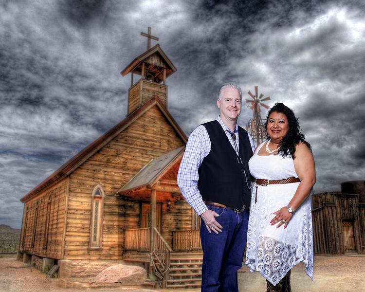 Ghost Town church in Arizona