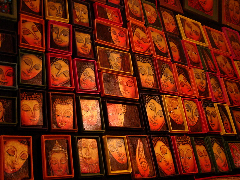 Pictures for sale at Luang Prabang's night market
