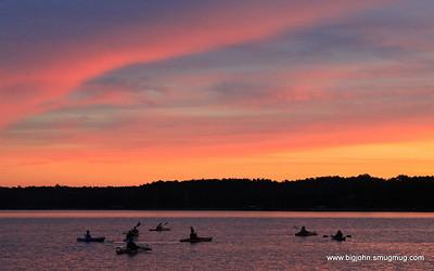 Lake Hartwell Sunset Sail and Moonlight Kayaking Adventure 10-24-10