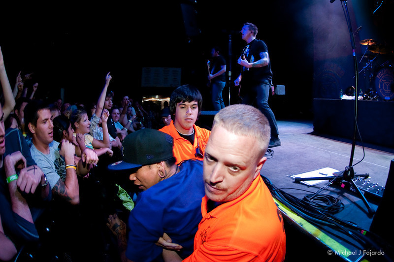 Crowd surfer at the Yellowcard show Wednesday, June 15 Summit Music Hall, Denver, CO