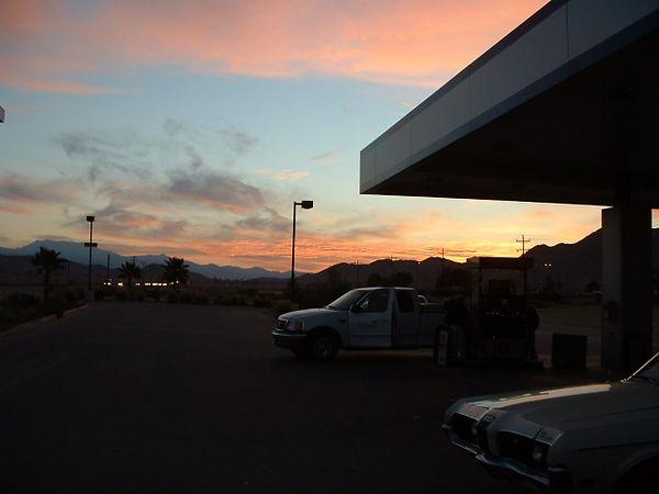Gas Station Sunrise -- 15 Jan 2004 -- Romoland, CA