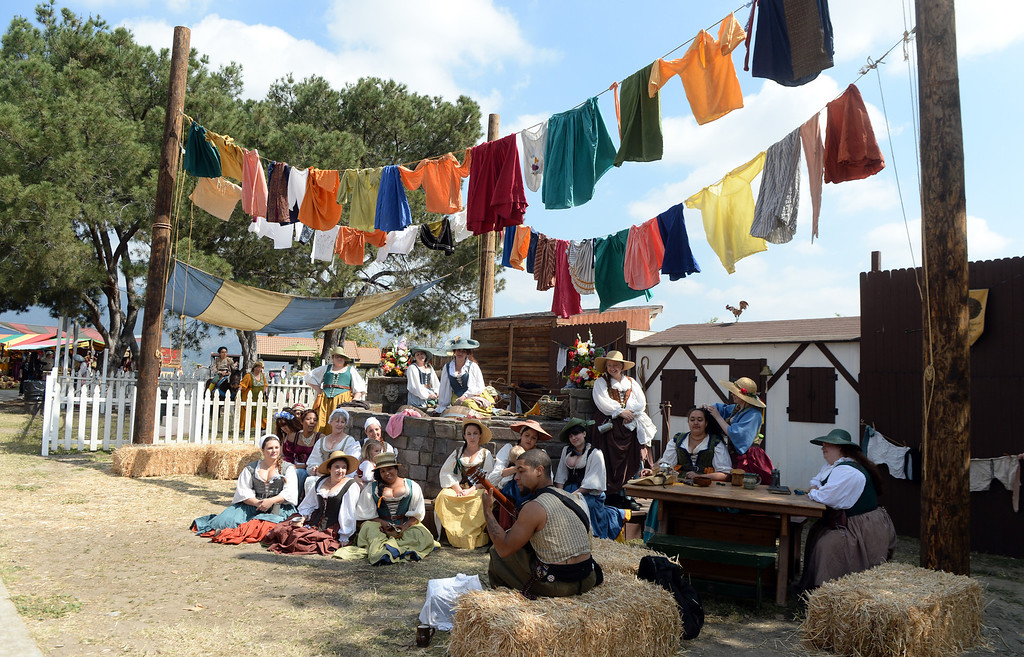 . Opening day of the Renaissance Pleasure Faire as many dress in period clothing at Santa Fe Dam Recreation Area in Irwindale, Calif., on Saturday, April 5, 2014. 