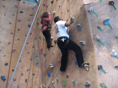 Ms. Krumbein's Advisory Visits Climbing Gym