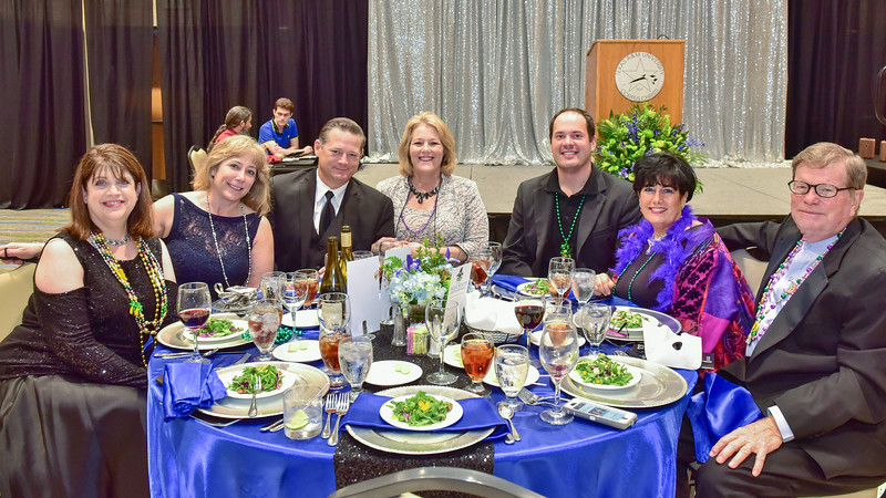 Dr. Kelly Quintanilla sits with guests at her table during President's Ball on March 3rd, 2018 at Texas A&M University - Corpus Christi.
