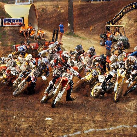 Motocross Canvas Paint's
