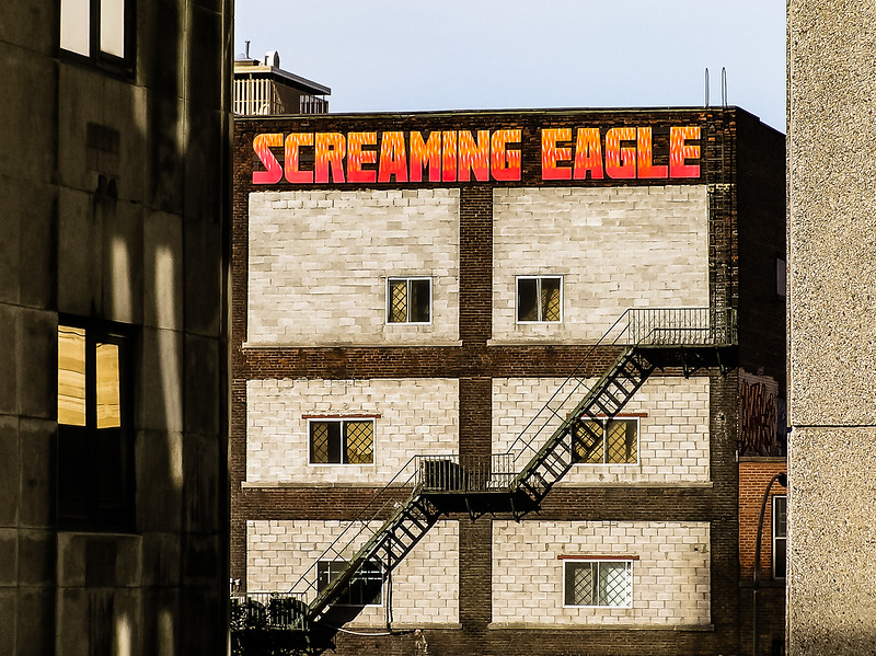 Screaming Eagle stairs