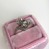 1.99ctw Vintage Old Mine Cut Bypass Ring 5