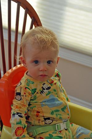 Grant's First Haircut