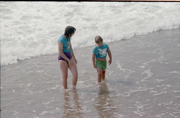 Beach trip with Chris Little