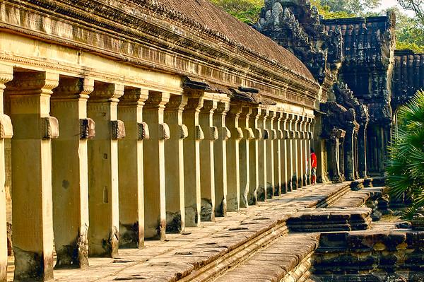 Temple Facade. Angkor Wat, Cambodia