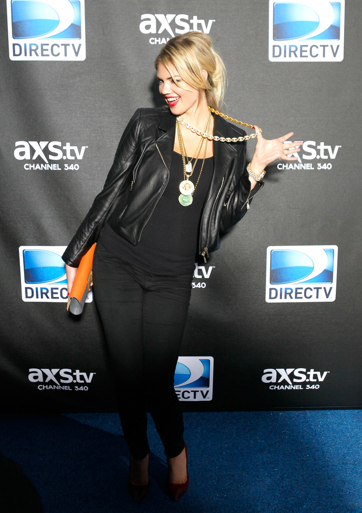 Description of . Model/Actress Kate Upton attends DIRECTV Super Saturday Night Featuring Special Guest Justin Timberlake & Co-Hosted By Mark Cuban's AXS TV on February 2, 2013 in New Orleans, Louisiana.  (Photo by Skip Bolen/Getty Images for DirecTV)