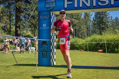 Tahoe Off-Road Triathlon Finish