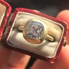 2.05ct Antique Cushion Cut Diamond Chunky Bezel with pave setting GIA J SI2 5