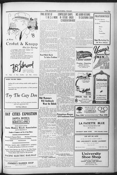The Southern California Trojan, Vol. 12, No. 69, April 06, 1921