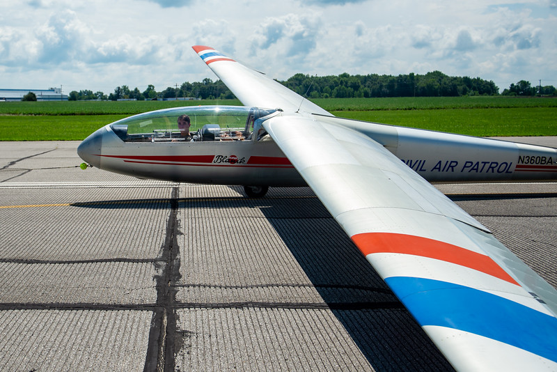 CAP - Licking County Composite Squadron takes cadets to the Marion Municipal Airport for Glider Orientation Flights
