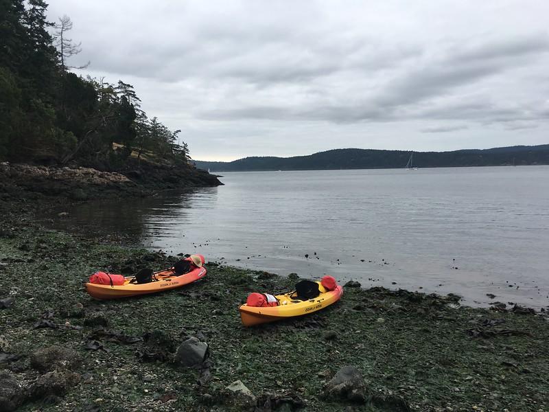 Jones Island! Cove at campsite