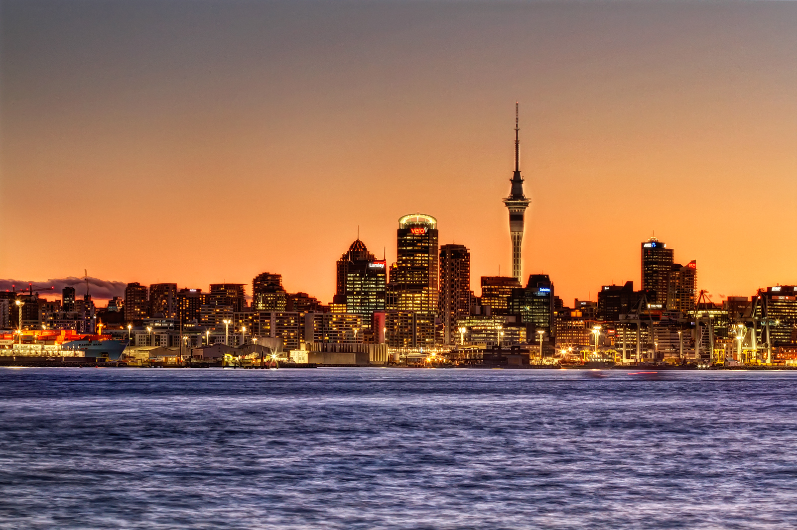 Auckland Skyline at Dusk