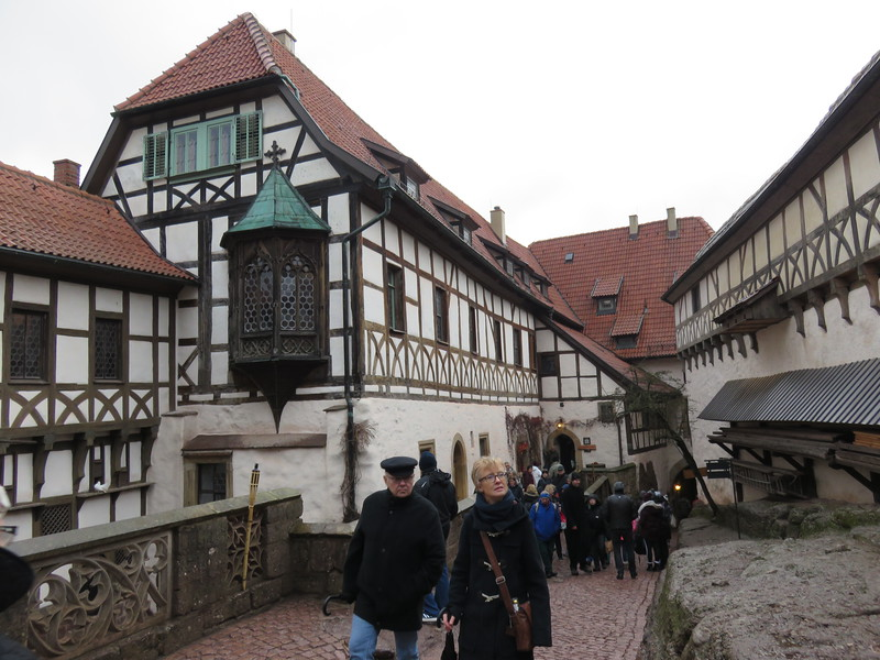 traditional buildings and street in germany