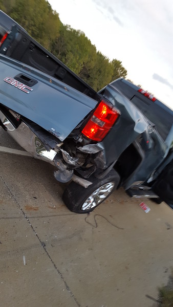 Truck Rear-Ended Before Concert (2015-09-18)