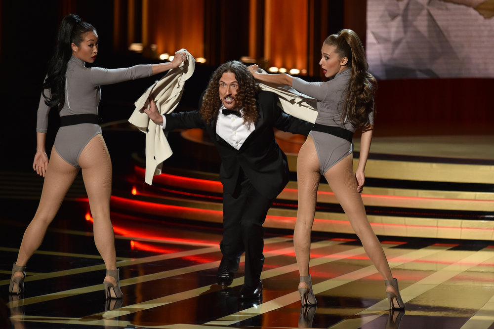 . Singer/songwriter \'Weird Al\' Yankovic performs onstage at the 66th Annual Primetime Emmy Awards held at Nokia Theatre L.A. Live on August 25, 2014 in Los Angeles, California.  (Photo by Kevin Winter/Getty Images)