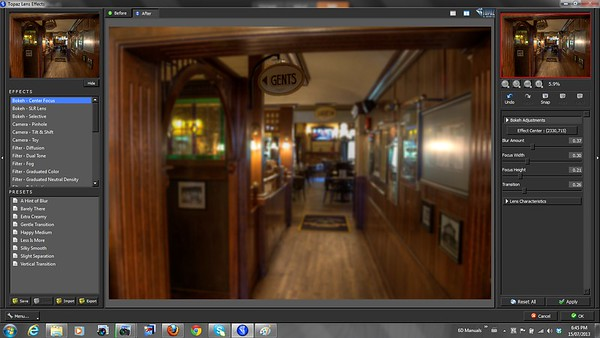 Lens Effects Bokeh - Topaz Labs Lens Effects Review