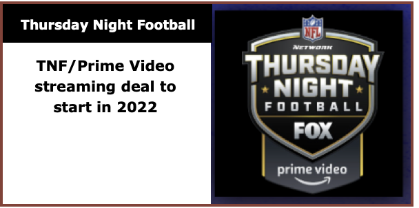 TNF Will return in 2020