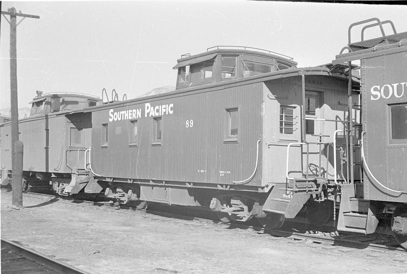 SP Wooden Caboose 89, Ogden. (Vic Oberhansley Photo)