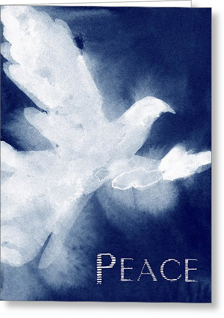 Dove Peace Holiday Card by artist Beverly Brown